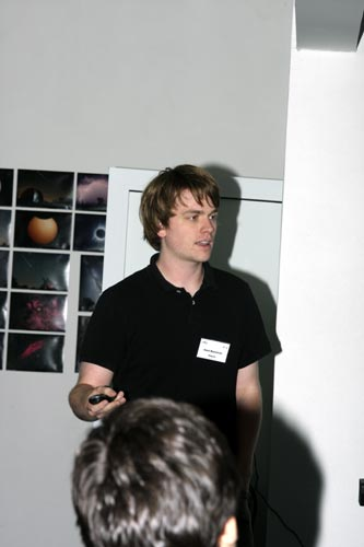 Geert Barendsen with 'The Virtual Meteor Observatory (VMO): An online database for meteor science' (credit Bernd Brinkmann).