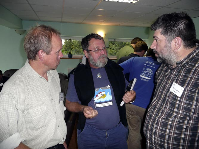 Coffee break friday afternoon. Pavol Zigo, Jean-Louis Rault and Frans Lowiessen (credit Paul Roggemans).