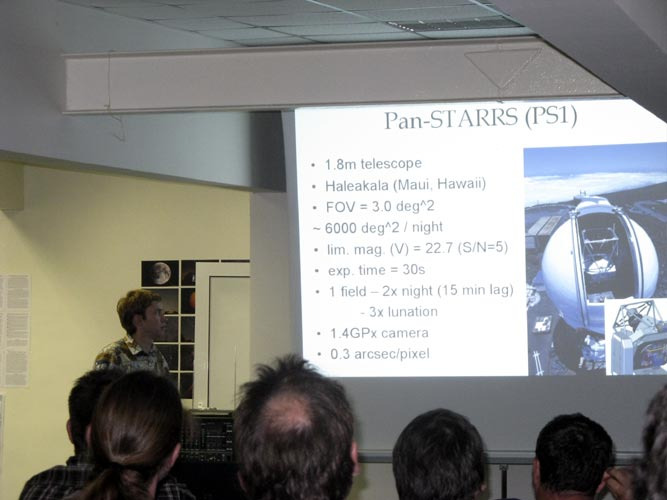 Peter Veres with 'Pan-STARRS and possible meteoroid observations' (credit Xiang Zhan).