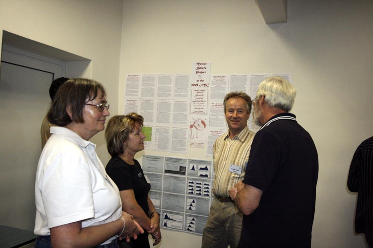During the poster session: From l.to r. Irmgard Schmidt, Birgit Flohrer, Joachim Flohrer and Hans-Georg Schmidt (credit Stanislav Kaniansky).