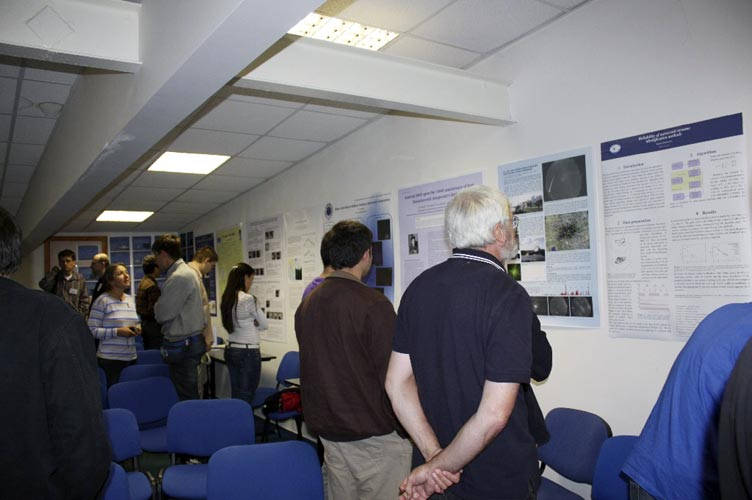 During the poster session: Hans-Georg Schmidt (credit Bogdan Cristian Călin).