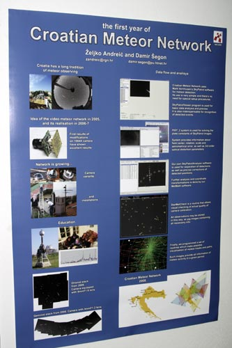 One of the many interesting posters:'Croatian Meteor Network' (credit Bernd Brinkmann).