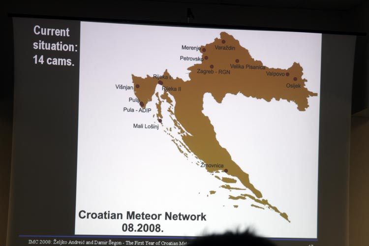 Zeljko Andreic with 'The first year of Croatian Meteor Network' (credit Bernd Brinkmann).