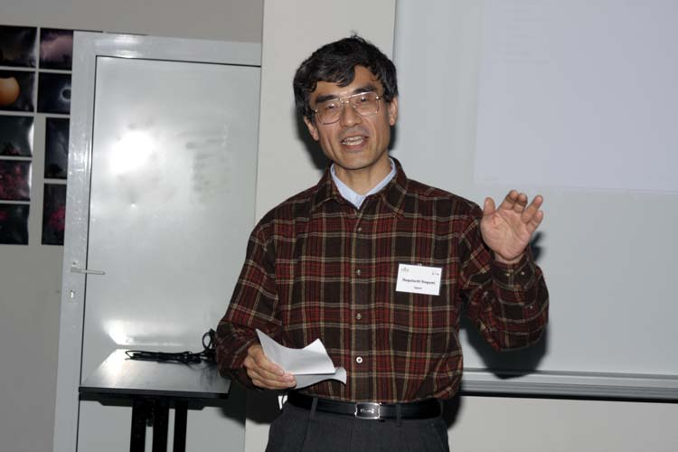 Nagatoshi Nogami, the specialist of the Japanese haiku (credit Bernd Brinkmann).