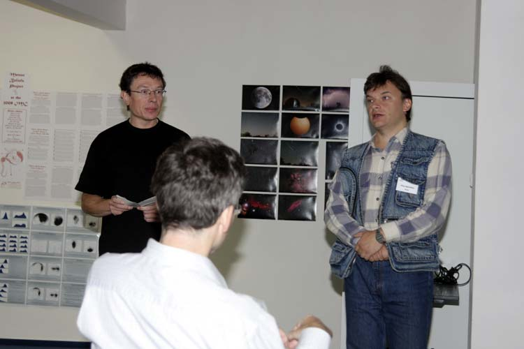 Paul Roggemans and Oleg Ugolnikov who spoke about 'Detection of Leonids meteoric dust in the upper atmosphere by the polarization measurements of the twilight sky' (credit Bernd Brinkmann).