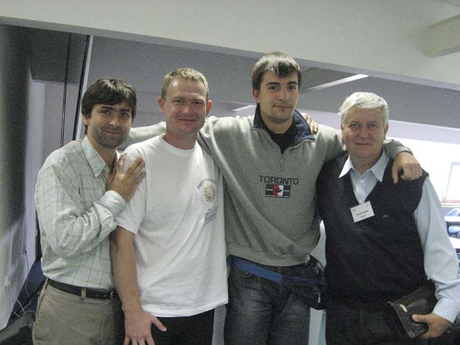 Saying good bye from l.to r. Juraj Toth, Stanislav Kaniansky, Boris Stoilov and Daniel Ocenas (credit Valentin Grigore).