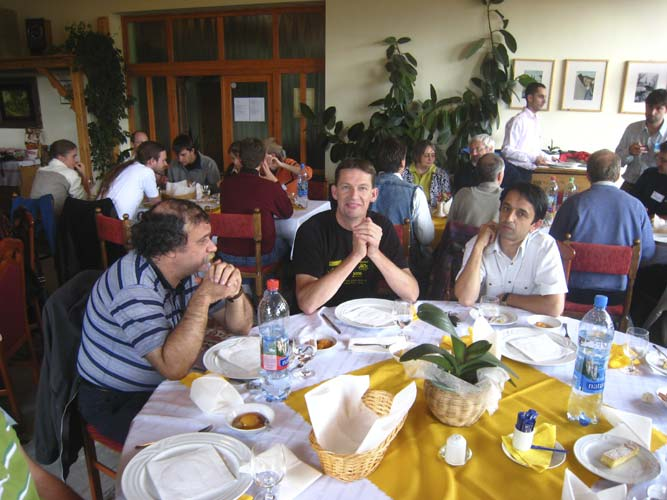 The last lunch of the IMC Sunday noon: Andrei Dorian Gheorghe, Jos Nijland and Mihai Robescu (credit Casper ter Kuile).
