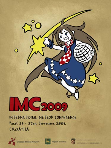 The logo of the IMC 24-27 September 2009, Poreč, Croatia (credit Korado Korlević).