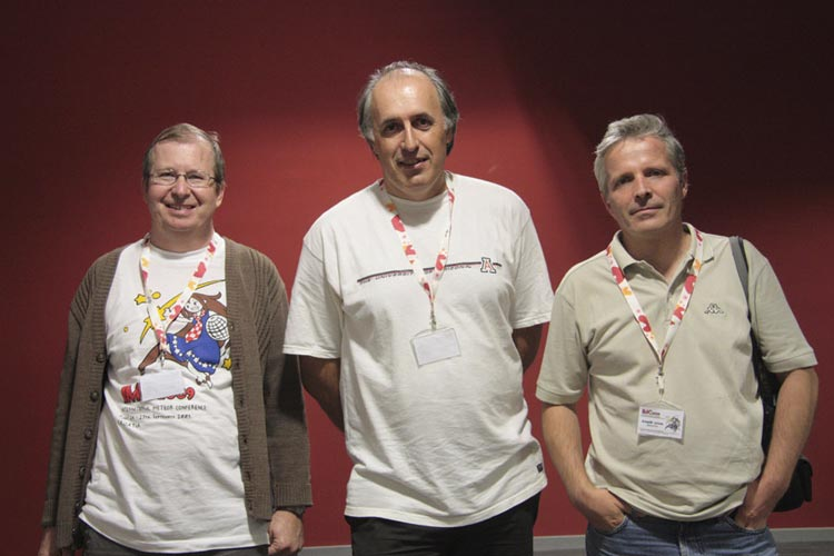 The main organizers of the IMC in Poreč, Croatia, from l.to r. Željko Andreić, Korado Korlević and Damir Šegon (credit Korado Korlević).