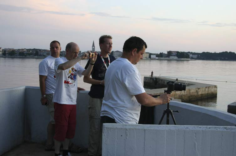 The sun sets at Poreč, here with Arnold Tukkers, Casper ter Kuile, Roy Keeris and Juraj Skvarka (credit Stanislav Kaniansky).