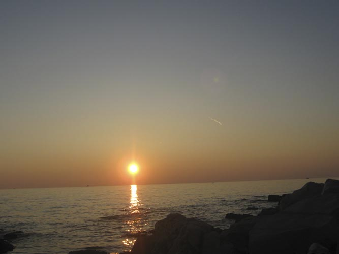 The sun sets at Poreč, a view many IMC participants will remember (credit Željko Andreić).