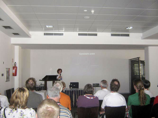 Galina Ryabova presenting 'Numerical model of the Geminid meteoroid stream: preliminary results' (credit Damir Šegon).