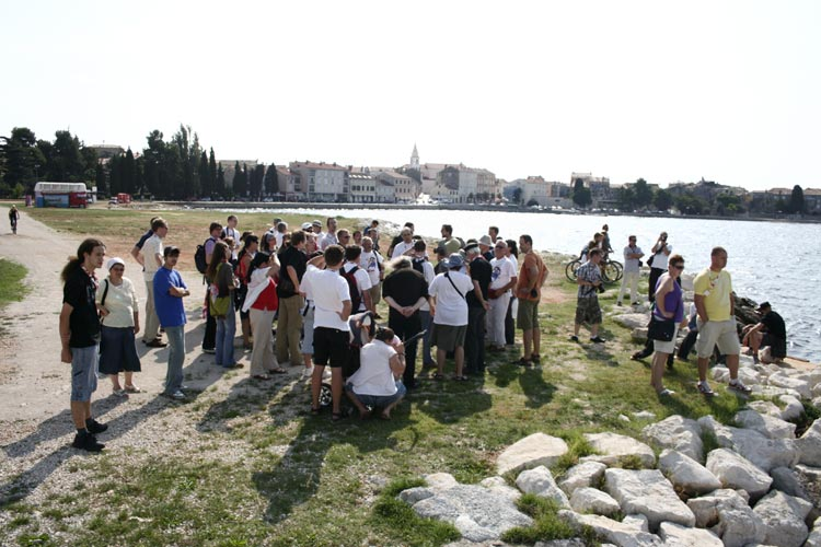 The group arrived at the bay of Poreč (credit Valentin Grigore).