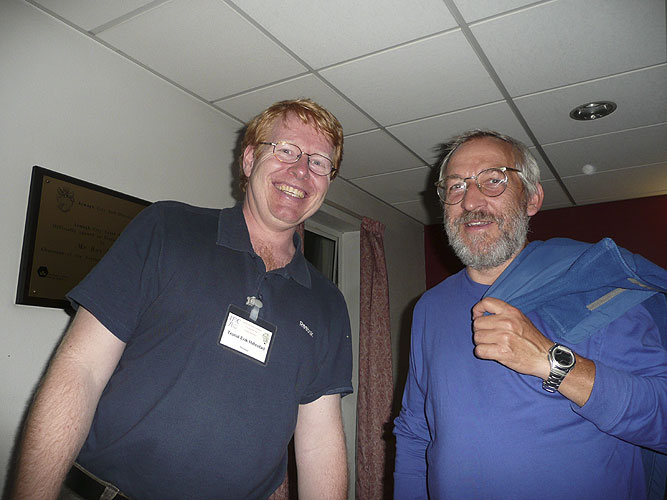 Trond Erik Hillestad and Jürgen Rendtel (credit Paul Roggemans).