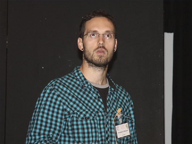 Lecture by Anastasios Margonis: 'Results from the 2010 Perseids Campaign using the SPOSH Camera' (credit Bernd Brinkmann).