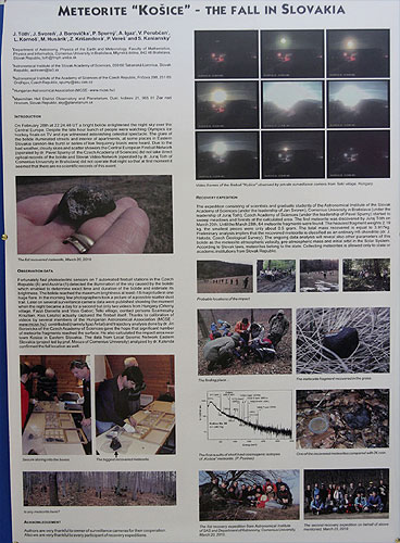 Poster session: 'Meteorite Kosice - The Fall in Slovakia' by Stanislav Kaniansky (credit Bernd Brinkmann).