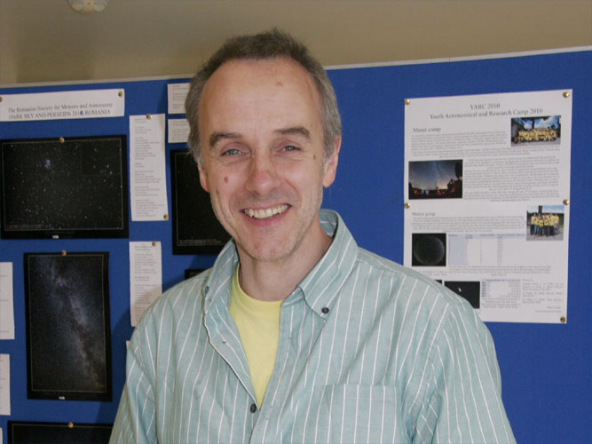 David C. Cullen at the poster session (credit Trond Erik Hillestad).