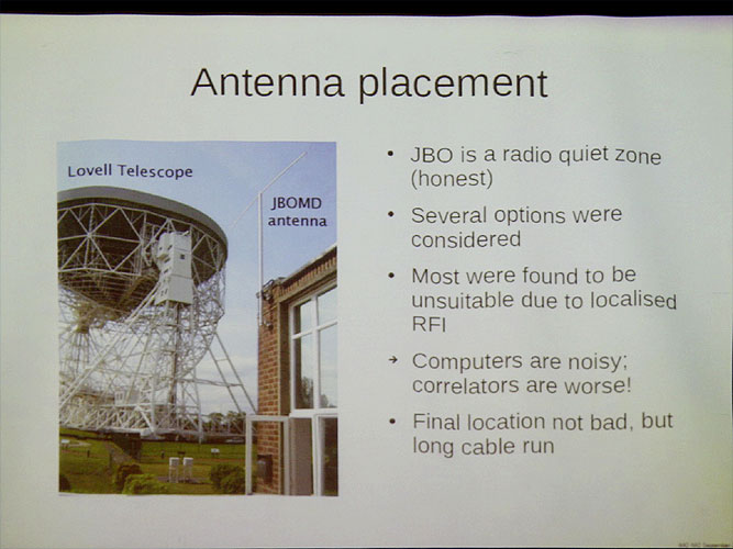 Lecture by Megan Argo: 'The Jodrell Bank Meteor Detector' (credit Bernd Brinkmann).