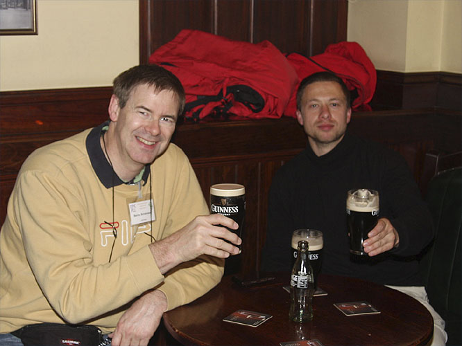 Social evening in the Turners Pub: Bernd Brinkmann and Marcel Skreda (credit Bernd Brinkmann).