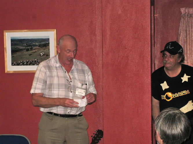 Astro-Poetry show: Terry Moseley continued to represent Irish astronomical poetry (credit Valentin Grigore).