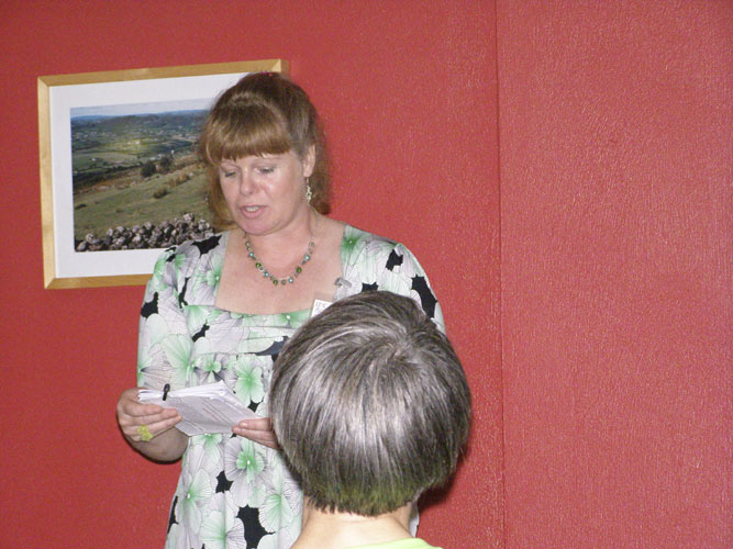 Astro-Poetry show: Bernadette Foley with more Irish astronomical poetry (credit Adriana Nicolae).