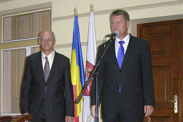 The welcome reception at the city hall. Klaus Werner Iohannis, Mayor of Sibiu city (credit Adriana Nicolae).