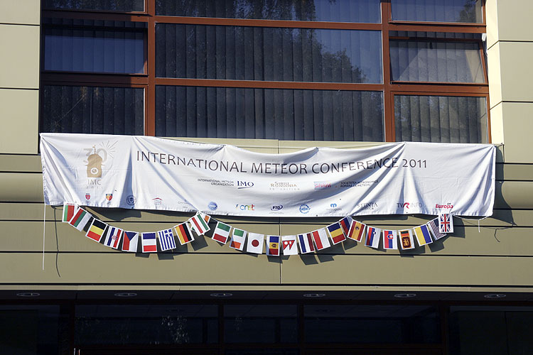 Friday morning 16 September: The IMC banner above the entrance of the Astra Library where the IMC lectures were given (credit Bernd Brinkmann).