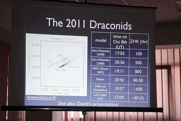 Jérémie Vaubaillon and the famous Draconid 2011 predictions (credit Bernd Brinkmann).