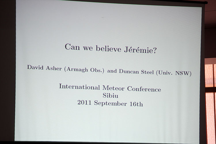 David Asher with the lecture 'Draconid meteor storms' (credit Bernd Brinkmann).