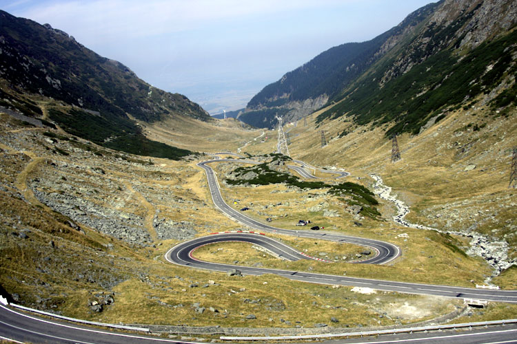 The Saturday afternoon excursion: The winding Transfagarasan highway (credit Bernd Brinkmann).