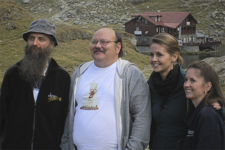 The Saturday afternoon excursion: from left to right Valentin Grigore, Bill Cooke, Rhiannon Blaauw and Linda Parker (credit Casper ter Kuile).