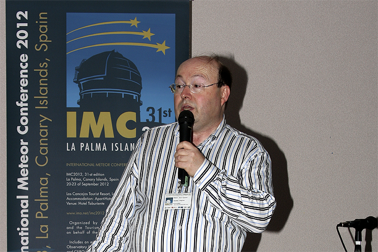 IMO Treasurer Marc Gyssens with some opening announcements (credit Bernd Brinkmann).