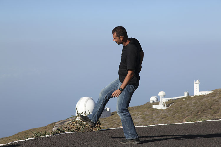 During the excursion: Ivica Skokic with 'Footdome' (credit Dominique Richard).