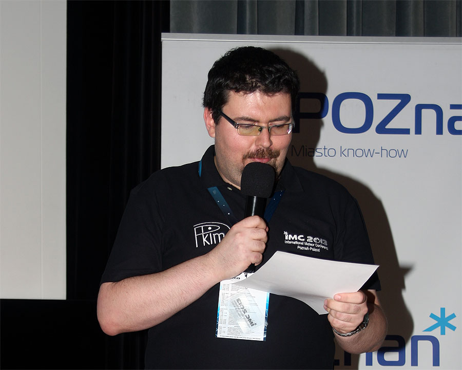 The welcome words and announcements of the IMC organizers by Przemysław Żołądek. (credit Bernd Klemt).