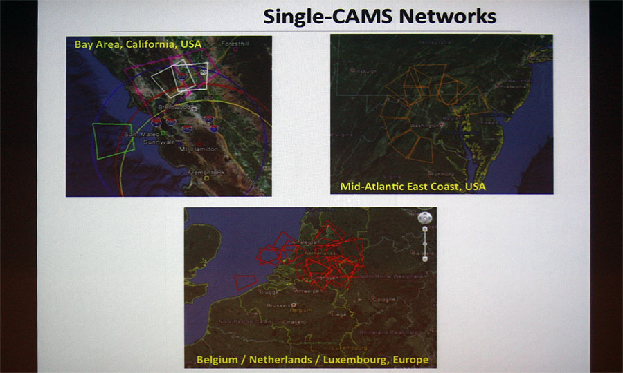 Peter Jenniskens: 'Results from the CAMS meteoroid orbit survey'. (credit Bernd Klemt).