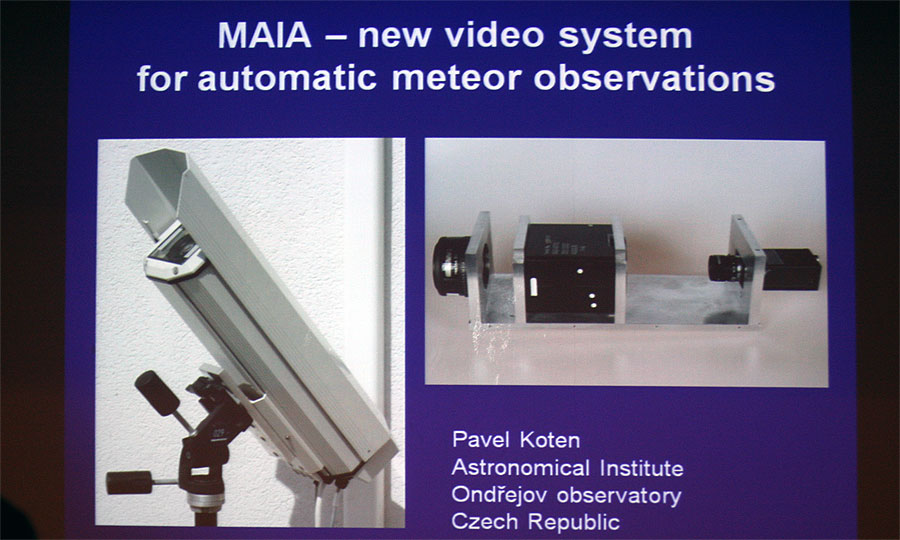 Pavel Koten: 'MAIA - new video system for automatic meteor observations'. (credit Bernd Klemt).