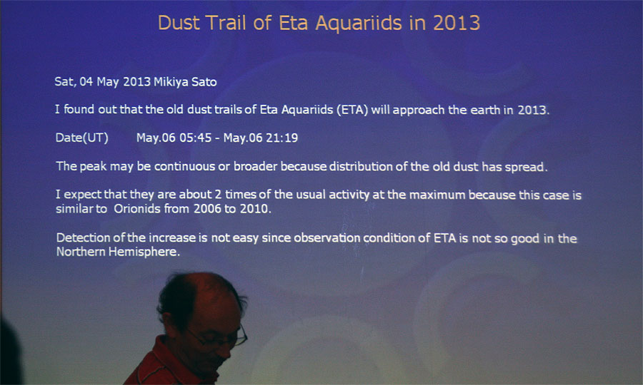 Chris Steyaert: 'The global radio eta Aquariids 2013' (credit Bernd Klemt).