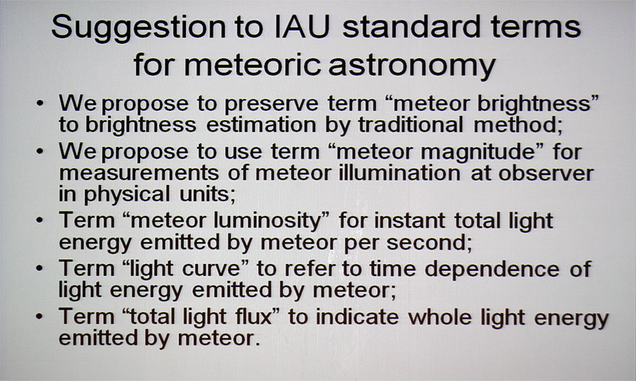 Alexander Bagrov: 'Correct brightness estimations of optical meteors' (credit Bernd Klemt).