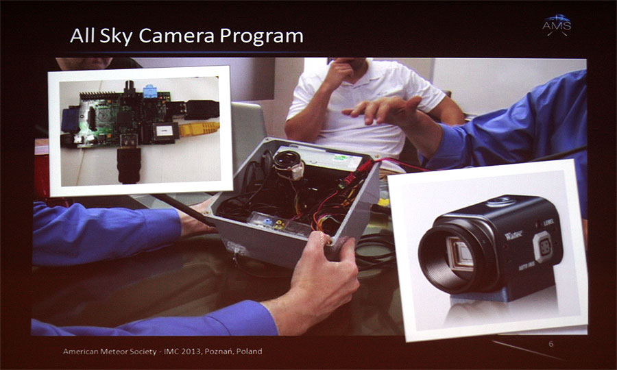 Michael Hankey: 'AMS fireball program, community website, mobile app and all sky camera program' (credit Bernd Klemt).