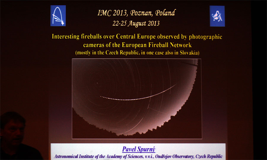 Pavel Spurný: 'Interesting fireballs observed in the European Fireball Network from the last IMC' (credit Bernd Klemt).