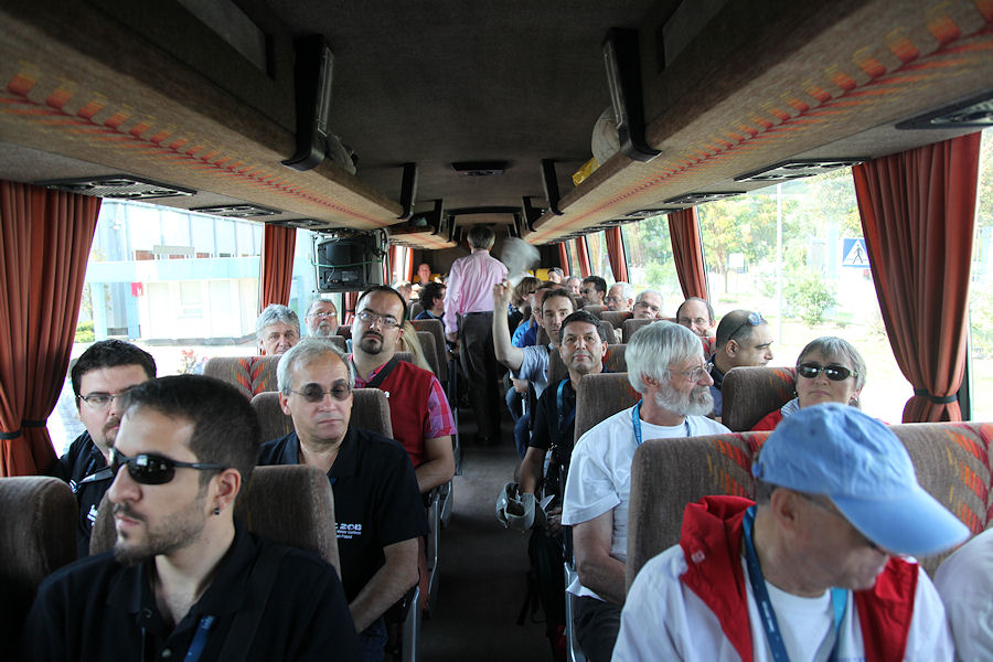 With 3 busses on excursion. From left to right we can see Przemysław Żołądek, Kerem Çubuk, Enrico Stomeo, Giancarlo Tomezzoli, Jean-Louis Rault, Nikola Bozic, Jérémie Vaubaillon, Abderrahmane Ibhi, André Knöfel, Hans-Georg Schmidt, Christian Steyaert, Netzer Moriya, Hutch Kinsman (looking away) and Irmgard Schmidt. (credit Dominique Richard).