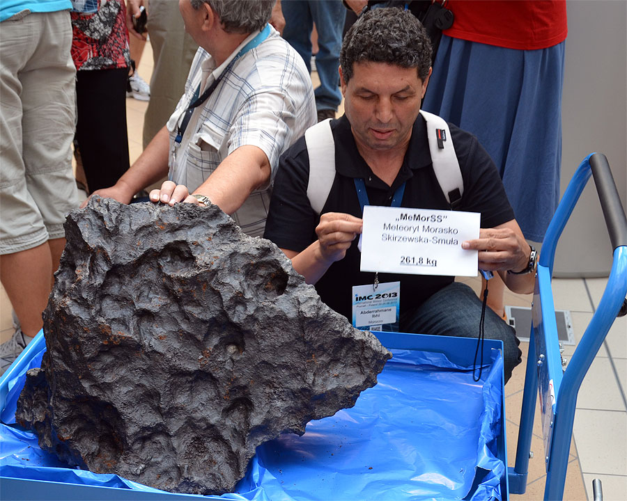 The meteorite specialist from Morrocco Abderrahmane Ibhi. (credit Axel Haas).