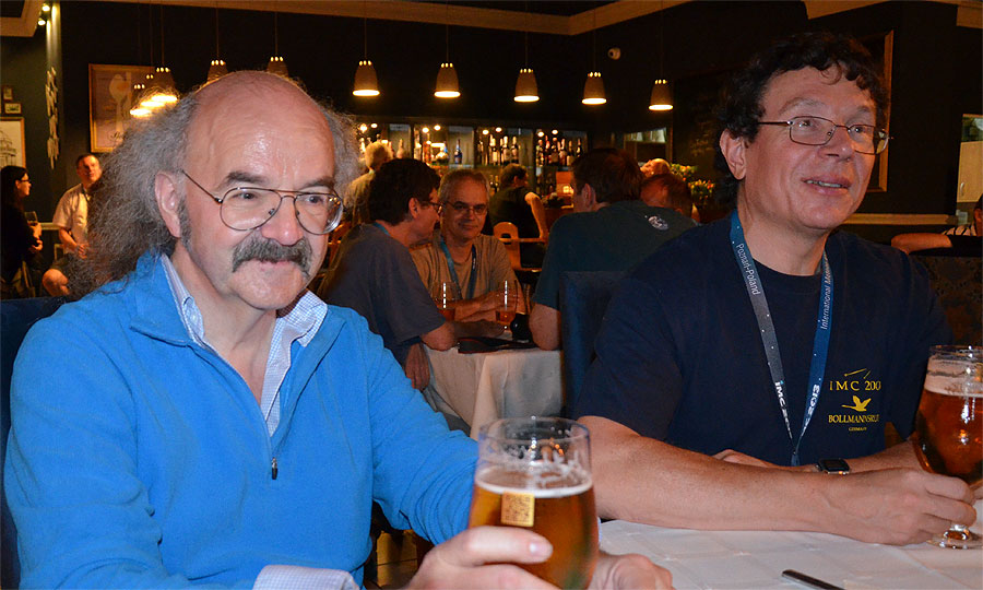 Last night of the IMC, Axel Haas and Paul Roggemans. (credit Axel Haas).