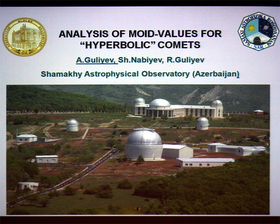 Guliyev Ayyub: 'Analysis of MOID-values for Hyperbolic Comets' (credit Bernd Klemt).