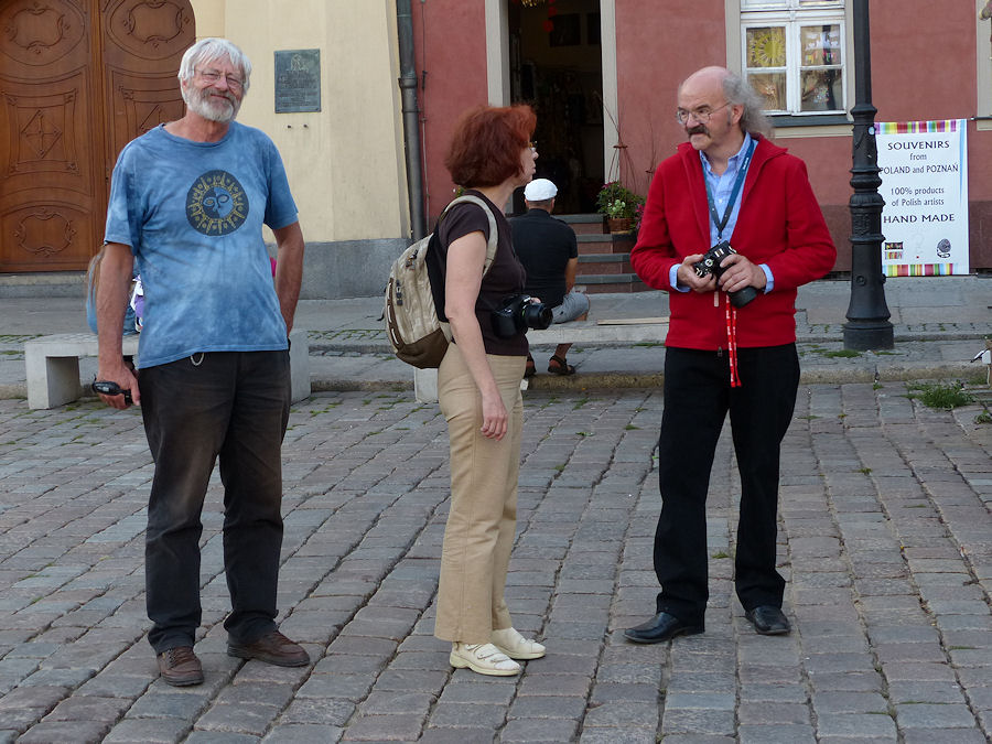 Poznan proved to be a wonderful historic city to discover. Hans-Georg Schmidt, Galina Ryabova and Axel Haas. (credit Irmgard Schmidt).