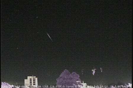 Simultaneous recording of sprites (TLE) and J8_ETA meteor.  uploaded by Carlos Fernando Jung