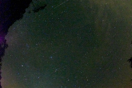 Perseids Meteor  flies over the mountain sky uploaded by Enya Huang