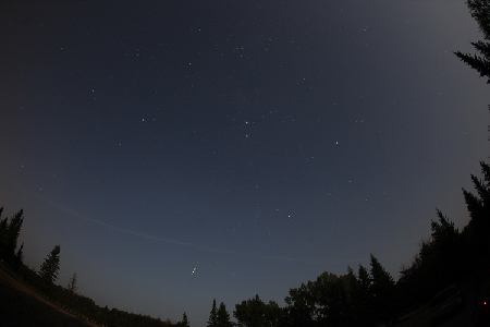 Bright Perseid in Auriga uploaded by Bruce McCurdy