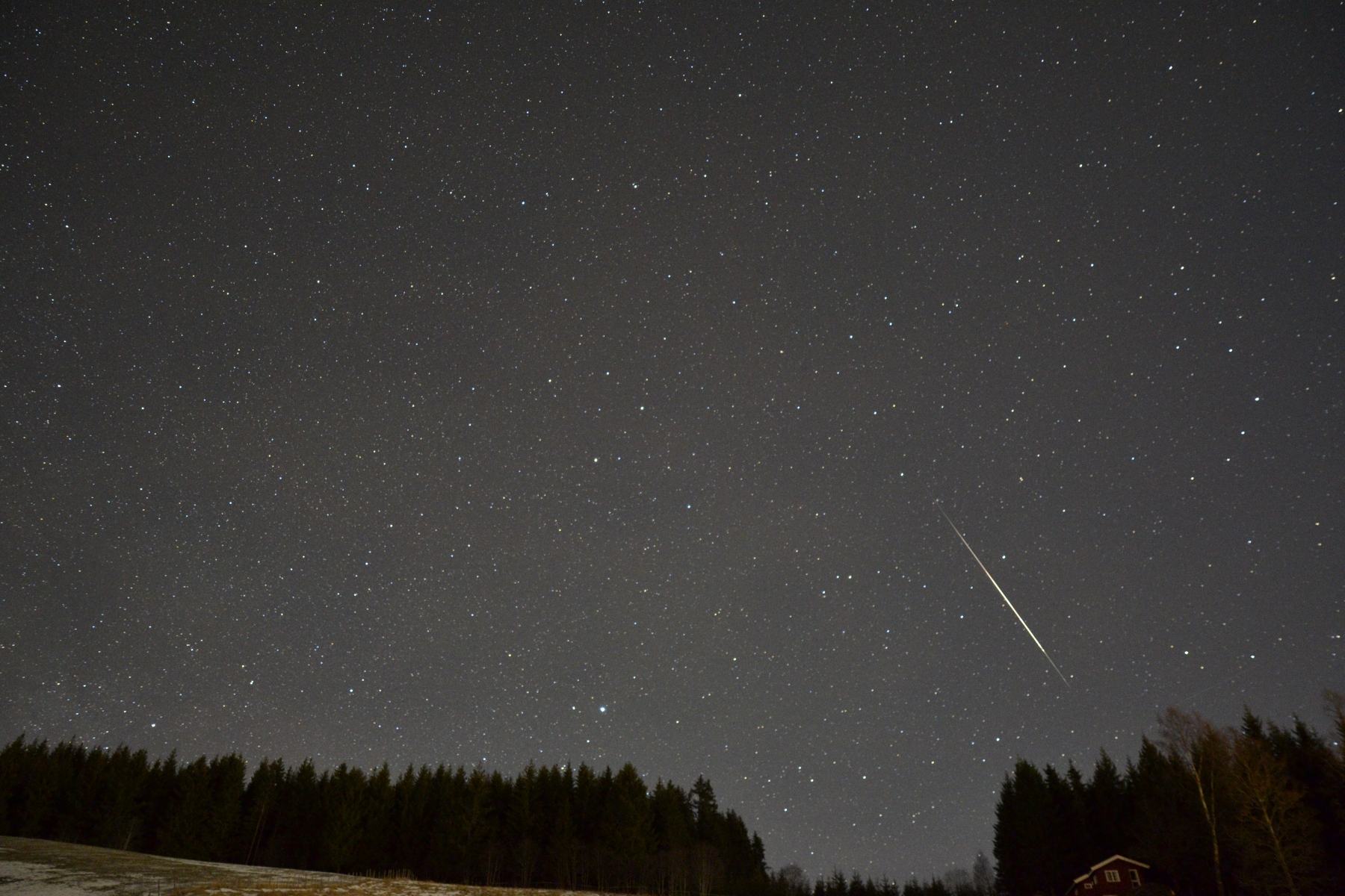 A -4 mag Ursid fireball captured on December 22nd, 2016. Copyright: Kai Frode Gaarder