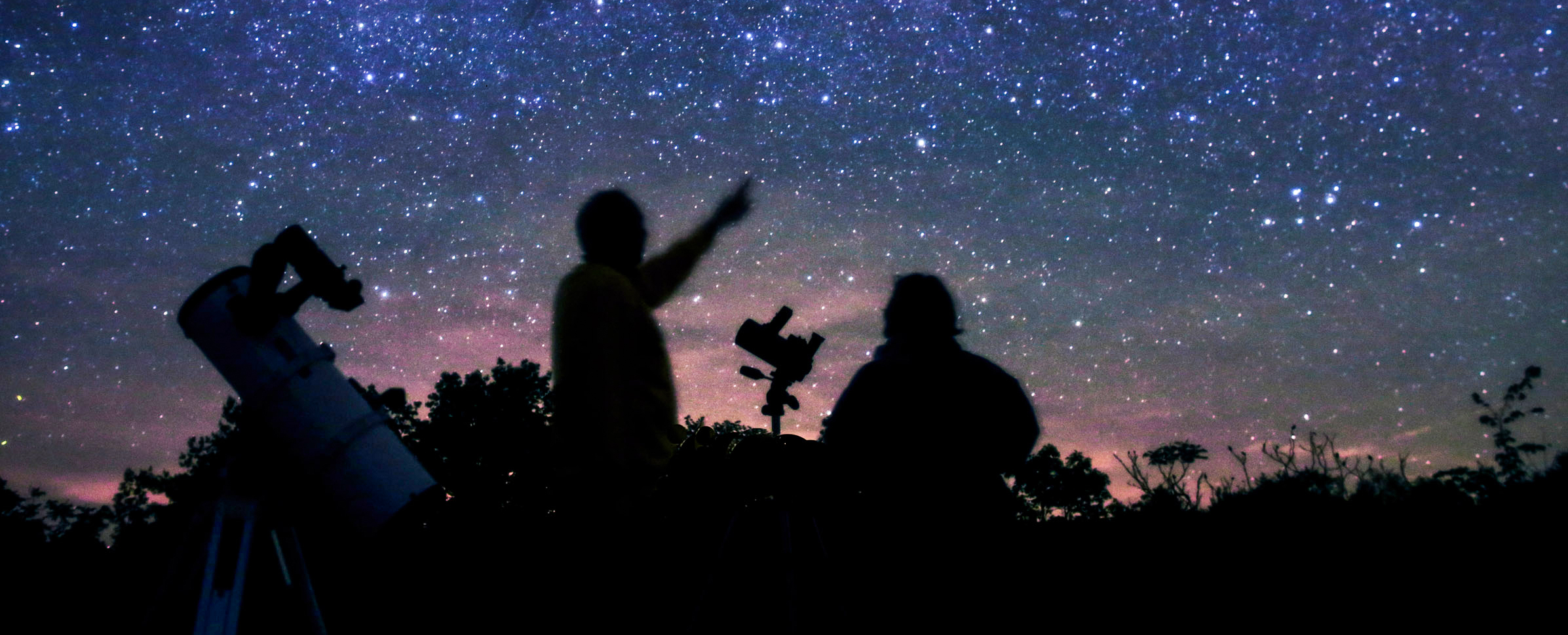 The Dark Sky Viewing Area offers a night sky experience very similar to what was available more than 100 years ago. (photo © Terence Dickinson)